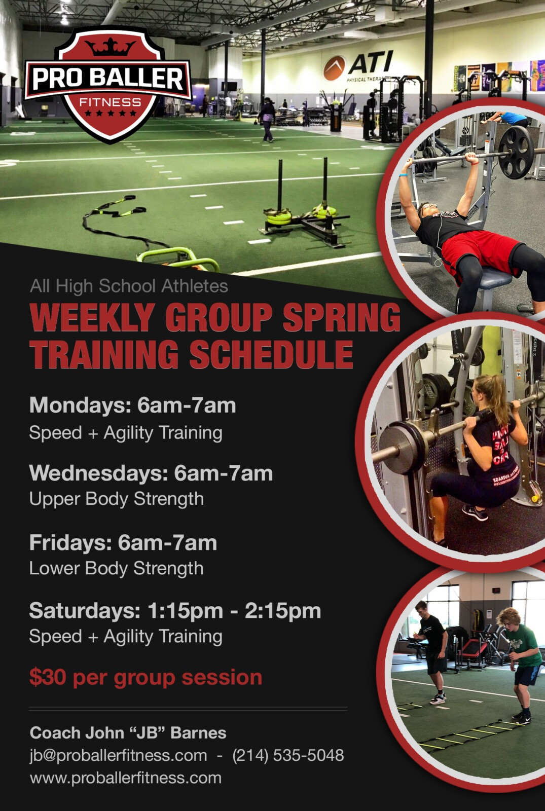 Pro Baller Fitness Weekly Group Spring Training